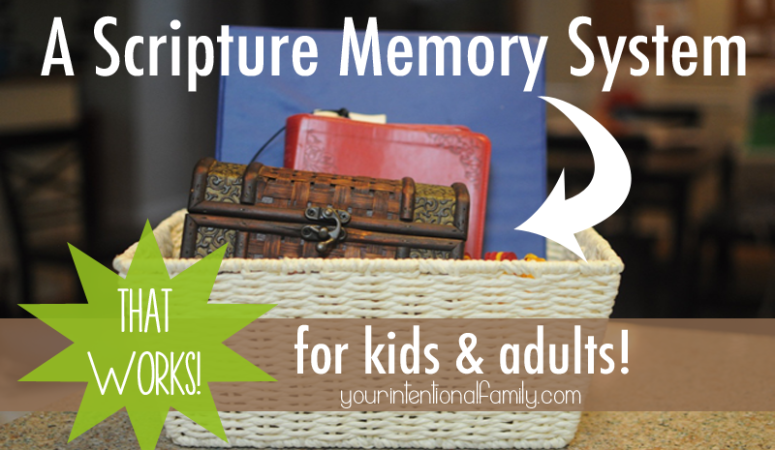 A Scripture Memory System that Works {for adults and kids!}