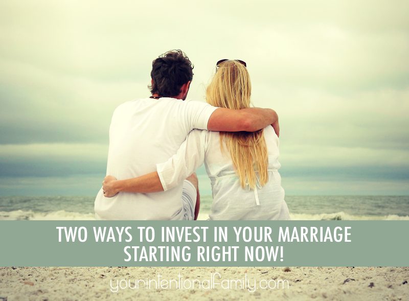 Two ways to invest in your marriage starting right now! You don't want to miss these FREE resources!