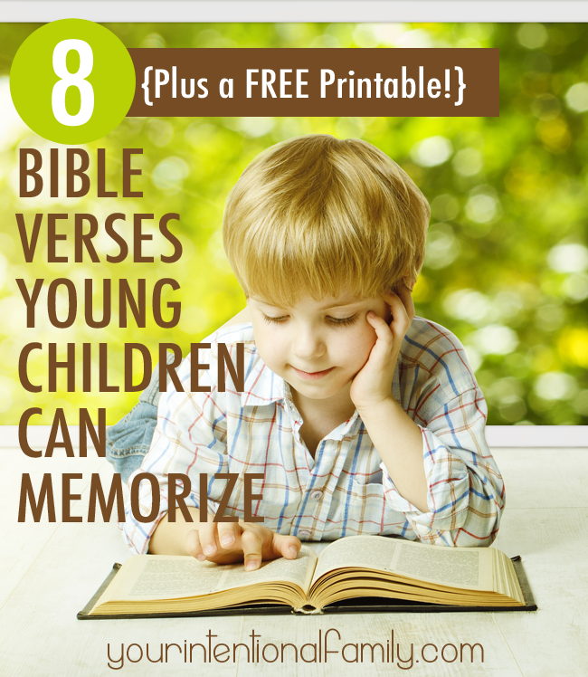 8 Bible Verses Small Children Can Memorize {Plus a FREE Printable!}